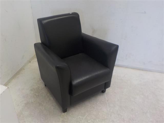 Zwart leren fauteuil de goede winkel