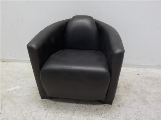 Leren fauteuil zwart van kleur de goede winkel