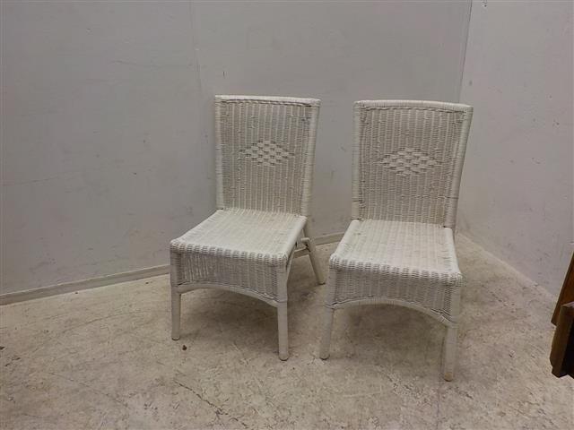Witte Rieten Stoel : Twee witte rieten stoelen de goede winkel
